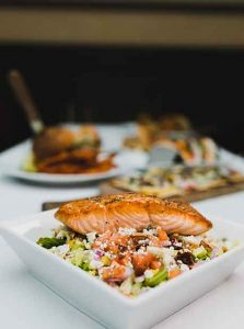 JJ Cooper Restaurant Bar Catering Long Beach New York salmon