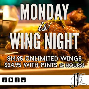 JJ Coopers Dining wing night
