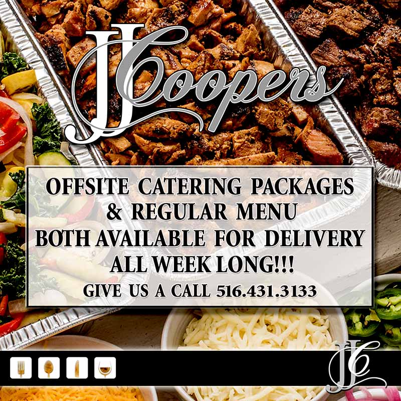 JJ Coopers restaurant Long Beach NY Catering Packages