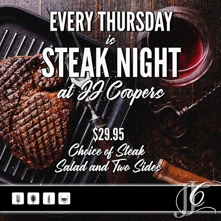 JJ Coopers restaurant Long Beach NY Steak Night Special