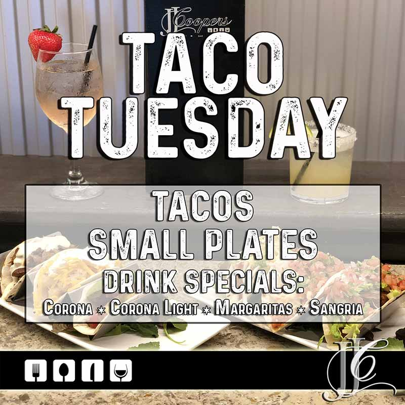 JJ Coopers restaurant Long Beach NY Taco Tuesday Special